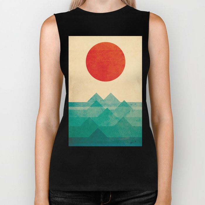 The ocean, the sea, the wave Biker Tank