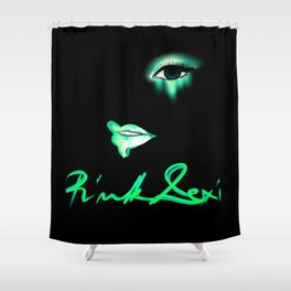 Pink Lexi Electric Green Shower Curtain
