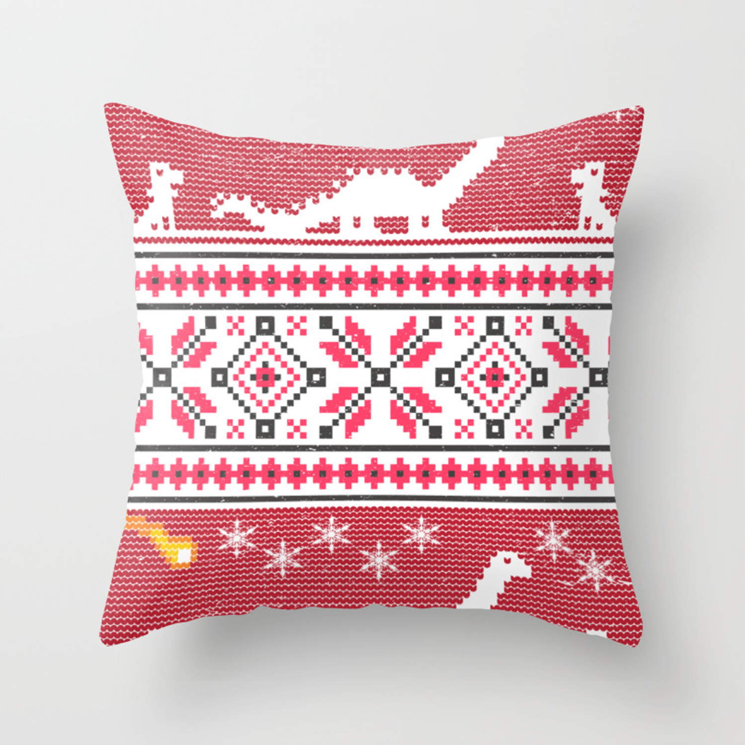 Picture of: Ugly Christmas Dinosaur Comet Funny Jurassic Xmas Throw Pillow By Zippythread Society6