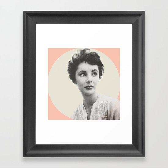 My Elizabeth Taylor Framed Art Print