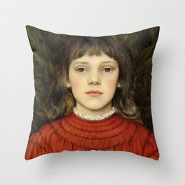 "Evelyn De Morgan ""Portrait of Winifred Julia Spencer Stanhope"" Throw Pillow"