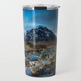 Mountain ice clouds blue Travel Mug