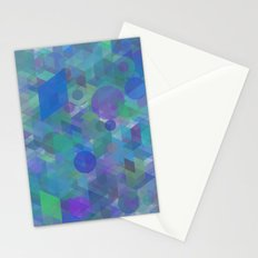 Panelscape + circles  - #1 society6 custom generation Stationery Cards