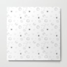 Blood Cells — Black on White Metal Print