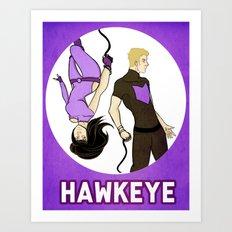 Hawkeye Squared Art Print