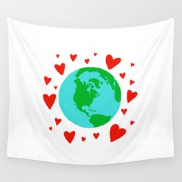 Love the Earth, Save the Earth Wall Tapestry