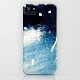 Meteor Shower - an abstract acrylic piece in blue and white iPhone Case