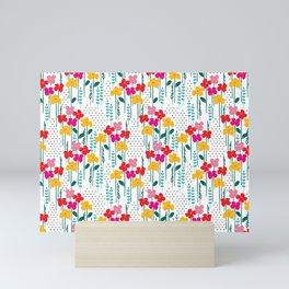 jubilee floral print Mini Art Print