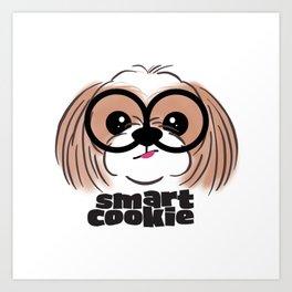 Shih Tzu Smart Cookie Art Print