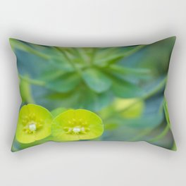 Little Green Flowers Rectangular Pillow