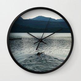 Late Summer Swim Wall Clock