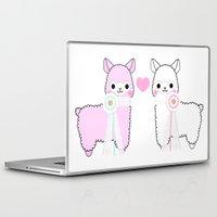 alpaca Laptop & iPad Skins featuring Alpaca Love by rinicake