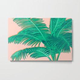 Palm trees on pink Metal Print