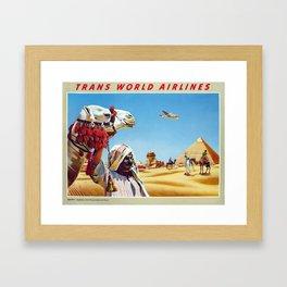 Vintage travel poster - Egypt Framed Art Print