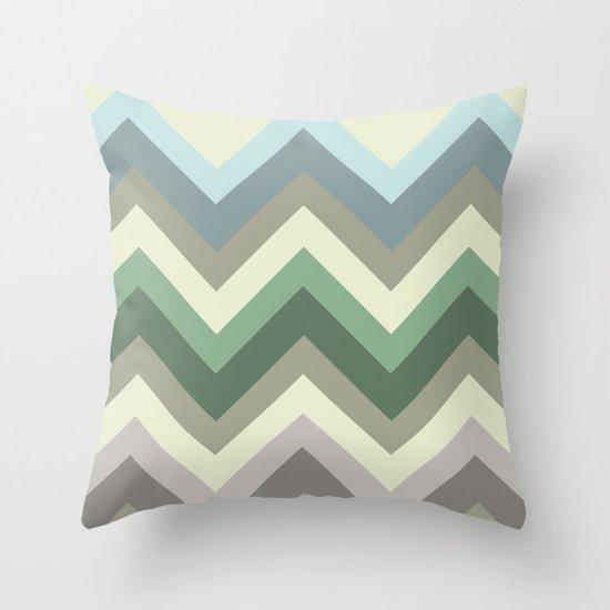 pastel chevron Throw Pillow