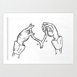 Wish Bone  Art Print