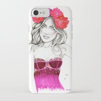 megan lara iPhone & iPod Cases featuring Megan by DLavArt
