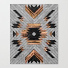 Urban Tribal Pattern No.6 - Aztec - Concrete and Wood Canvas Print