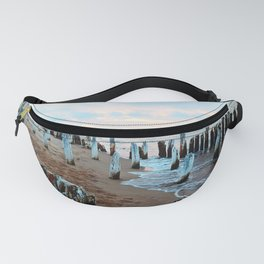 Water licks the Wharf's Remains Fanny Pack
