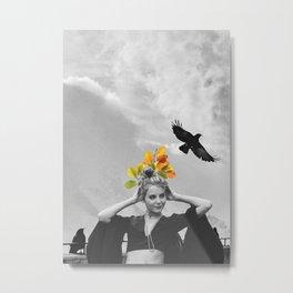 CROW GIRL Metal Print