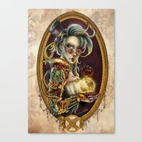 steampunk Canvas Prints featuring Steampunk by Mili Koey