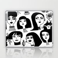 GIRLS AND ONE CAT Laptop & iPad Skin