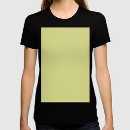 Light Olive Solid Color Block T-shirt
