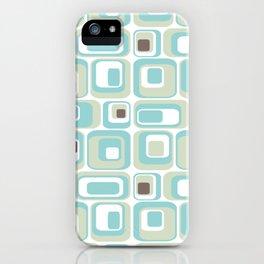 Retro Rectangles Mid Century Modern Geometric Vintage Style iPhone Case