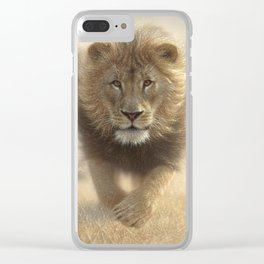 Lions Running - Eat My Dust Clear iPhone Case