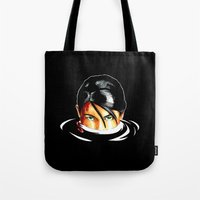 tomb raider Tote Bags featuring Survivalist Laura Croft Tomb Raider by Christophajay