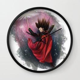 Fairy of dandelions Wall Clock