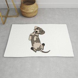 Happy dachshund illustration Rug