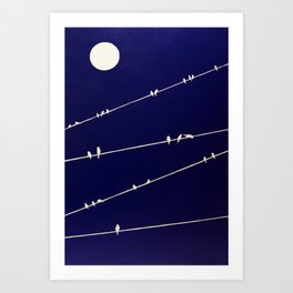 (more) birds on a Wire Art Print