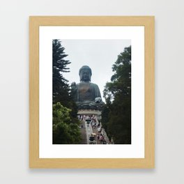 Long way up. Framed Art Print