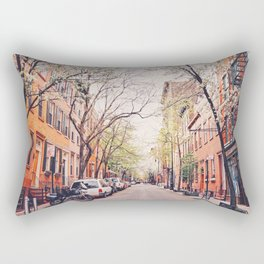 New York City - Springtime in the West Village Rectangular Pillow
