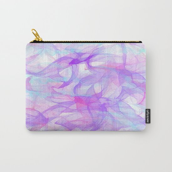Soft Veils Of Color Abstract Carry-All Pouch