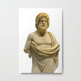 Ancient Roman Marble Sculpture of Asclepius Metal Print