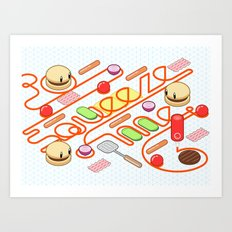 Tasty Visuals - Squeeze Me Art Print