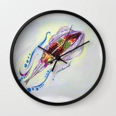 Caribbean Reef Squid Wall Clock