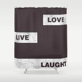 Love live laught Shower Curtain
