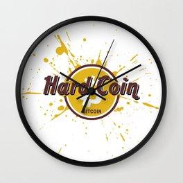 Hard Coin Bitcoin Wall Clock