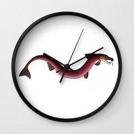 Salmon snake Wall Clock