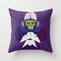 jojo Throw Pillows featuring Mojo Jojo by Hailstorm Tee