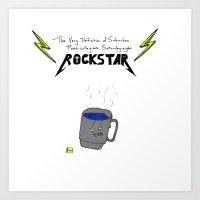 Saturday-night Rock Star Art Print