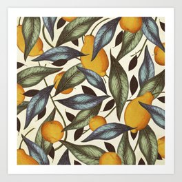 Lemons, Oranges & Pears Art Print