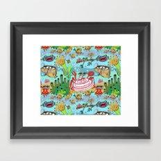 Mini Mermaids and Friends Framed Art Print