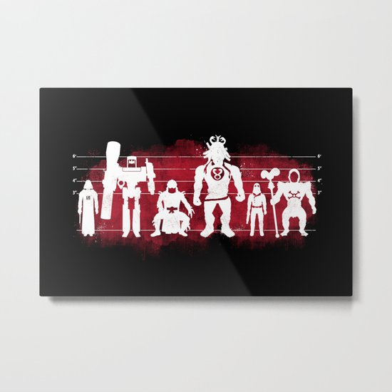 Plastic Villains  Metal Print