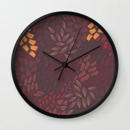 Petal Pattern in Autumn Grain Wall Clock