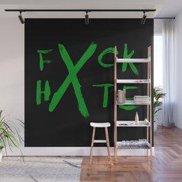 FXCK HXTE - Green Paint Wall Mural
