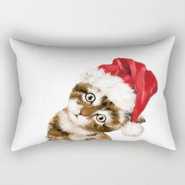 Christmas Baby Cat Rectangular Pillow
